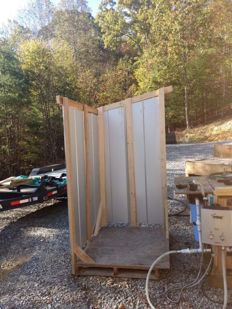 How to Build a Simple Off-Grid Shower